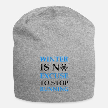 Humor De winter is geen excuus-joggingcadeau - Jersey-Beanie