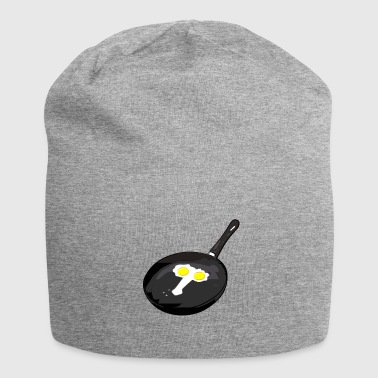 Perverted and erotic frying pan with egg gift - Jersey Beanie