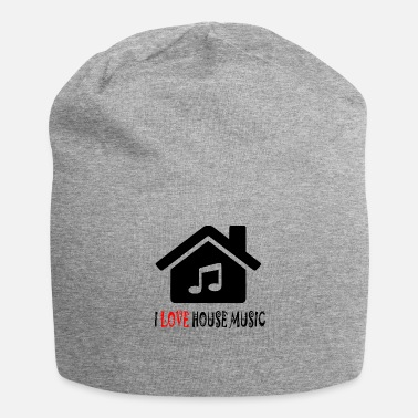 House House Music House Party Shirt - Gorro holgado de tela de jersey