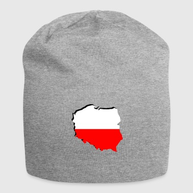 Geographic Polska Poland flag in geographic form - Jersey Beanie