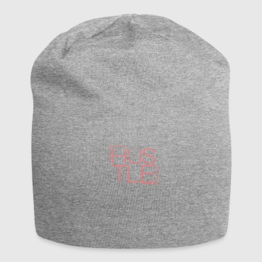 Hustle font | Red font | gift - Jersey Beanie