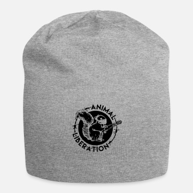 Animal Rights Animal Liberation Squirrel - Jersey Beanie