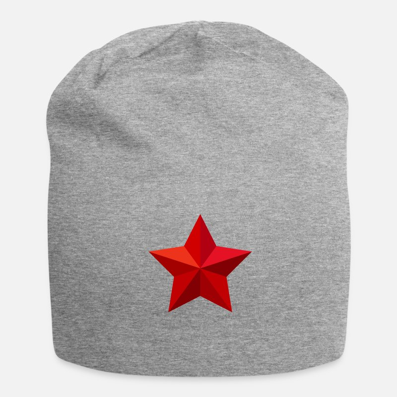 Red Caps & Hats - Red Star Red Star Christmas Crest Flag - Beanie heather grey