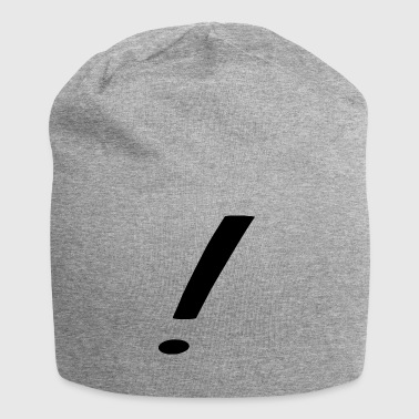 exclamation mark - Jersey Beanie