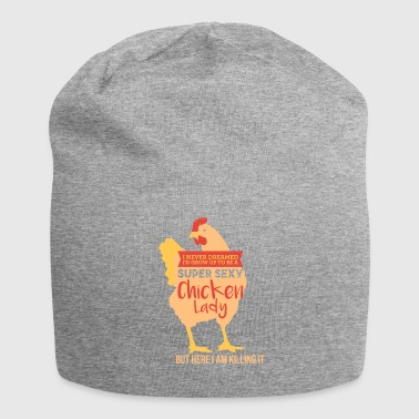 Super sexy chicken woman - Jersey Beanie