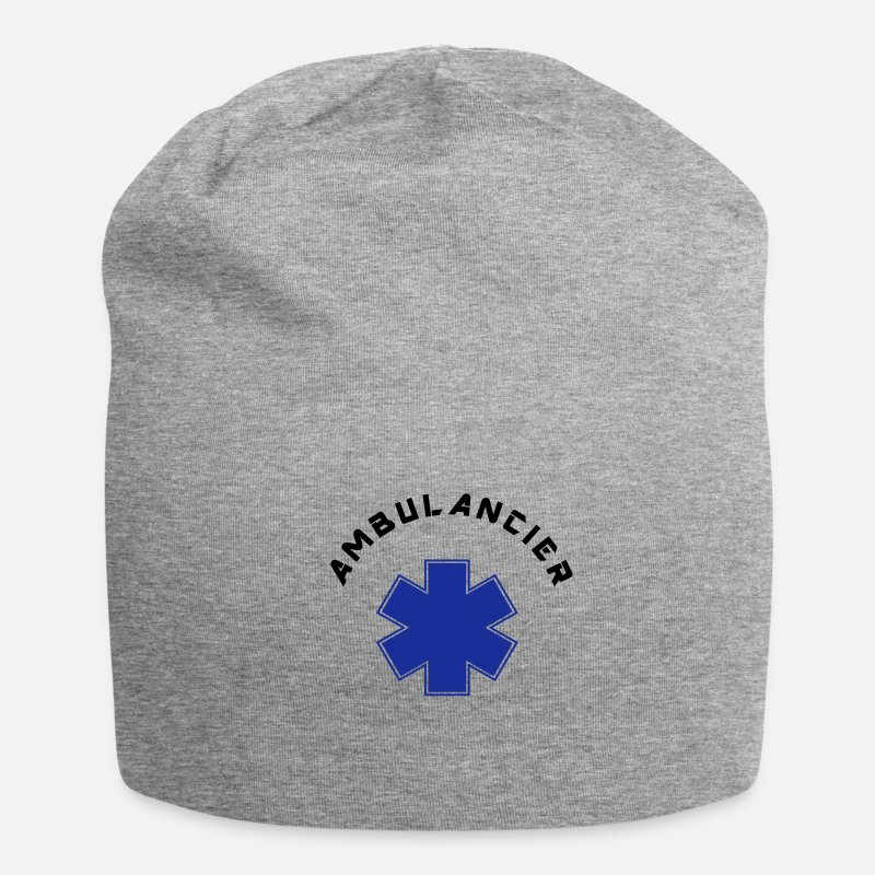 Ambulancier Casquettes et bonnets - ambulancier logo 6 - Beanie gris chiné