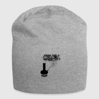 KEEP CALM AND SMOKE - Beanie in jersey