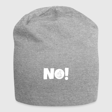 NO! Middle finger stinky finger - Jersey Beanie