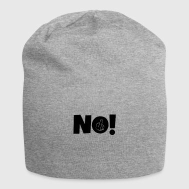Middle Finger NO! Middle finger stinky finger - Jersey Beanie