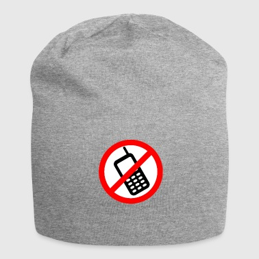 Mobile phone ban Switch off mobile phone - Jersey Beanie