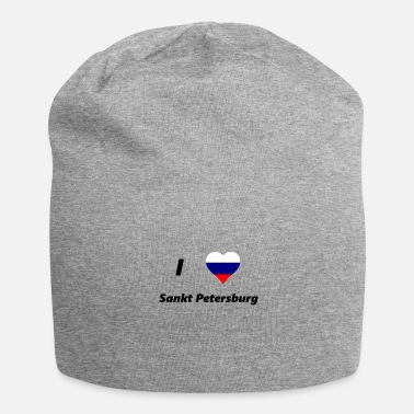 Saint Petersburg i love saint petersburg - Jersey Beanie