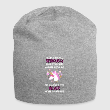 People should stop expecting normal from me - Jersey Beanie