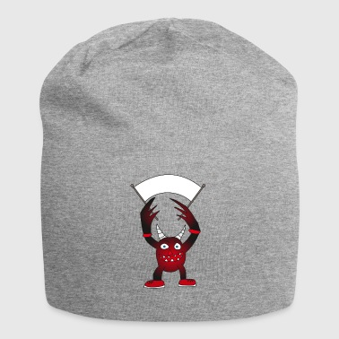 Devil with horns wants to play - Jersey Beanie