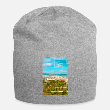 Ancient Greece A distant view of ancient Athens in Greece - Jersey Beanie