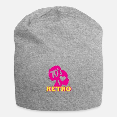 70th Birthday I LOVE 70th RETRO neon style - Jersey Beanie
