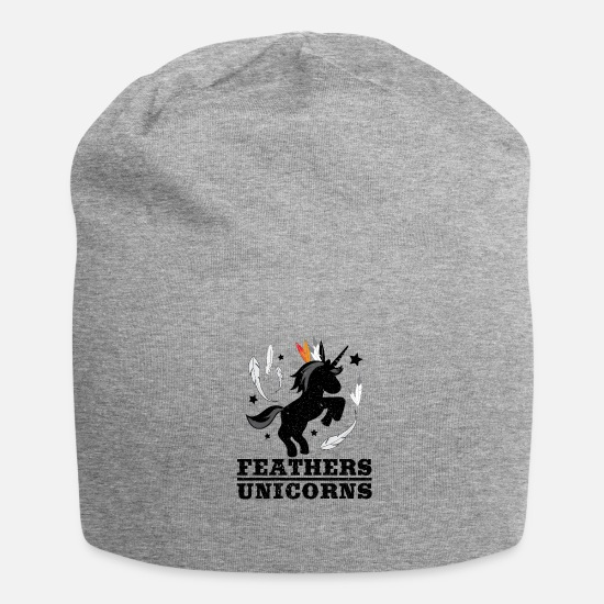 Gift Idea Caps & Hats - Unicorn indian i mythical creature of the east - Beanie heather grey