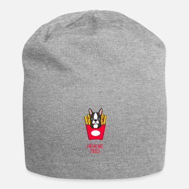 French Cool Dog French Bulldog French Fries Gift - Jersey Beanie