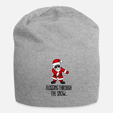 Flossing through the snow Santa Floss like a boss - Jersey Beanie