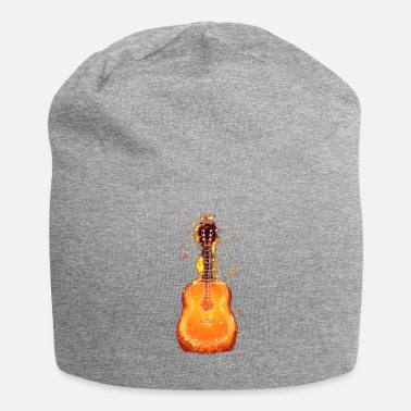 Acoustic Guitar Acoustic guitar burning acoustically - Jersey Beanie