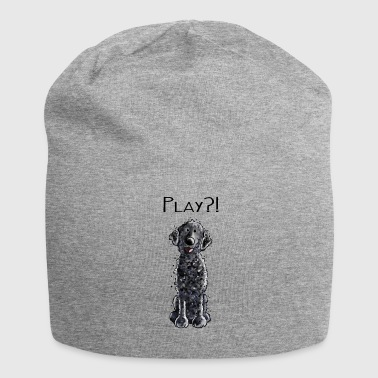 Curly Coated Retriever Play - Welpe - Hund - Tier  - Jersey-Beanie