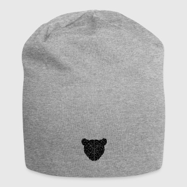 Dark Geometric Bear - Beanie in jersey