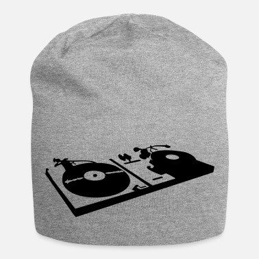 Vinyl DJ, record player, vinyl - Bonnet en jersey