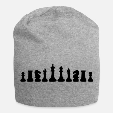 Schaken Chess, chess pieces - Jersey-Beanie