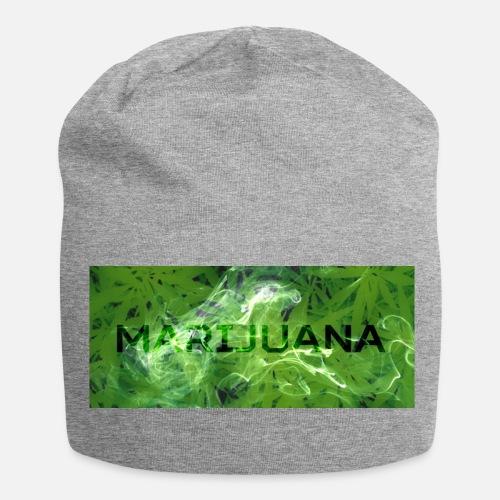 Marijuana Weed - Jersey Beanie. Front da380b774c28