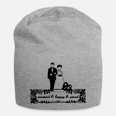 Ehe married & happy & proud Geschenk - Beanie