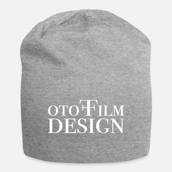 Movie Caps & Hats - Photo Film Design White - Beanie heather grey