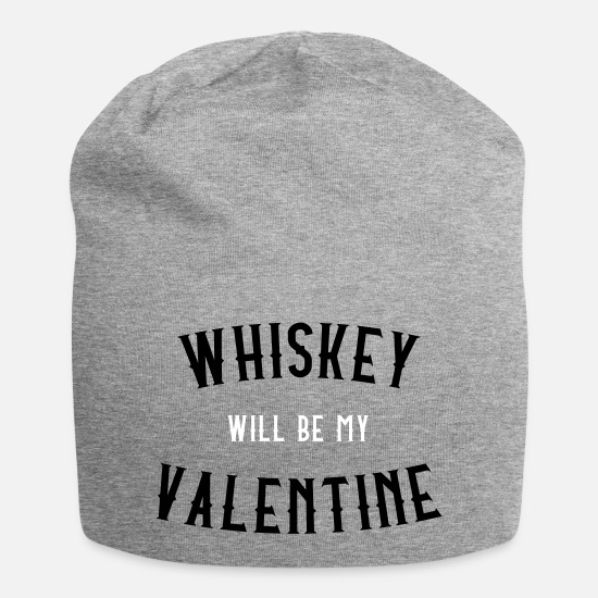 Love Caps & Hats - Whiskey Will Be My Valentine - Beanie heather grey