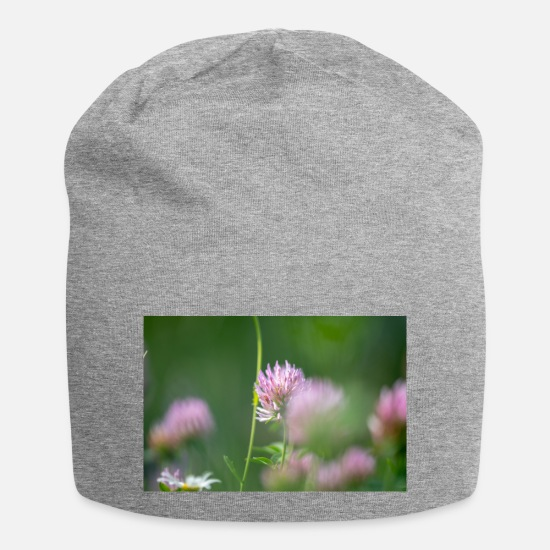 Flowers Caps & Hats - Flower macro - Beanie heather grey