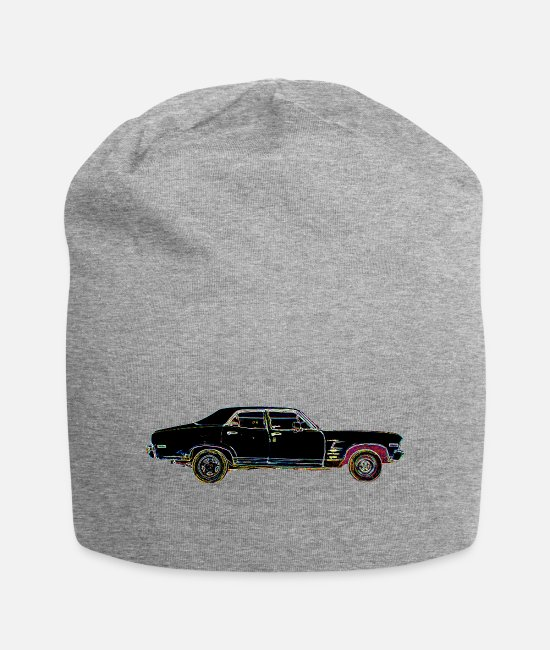 V8 Caps & Hats - old american car - Beanie heather grey