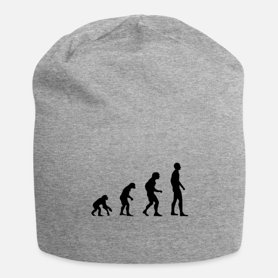 Caveman Caps & Hats - evolution - Beanie heather grey