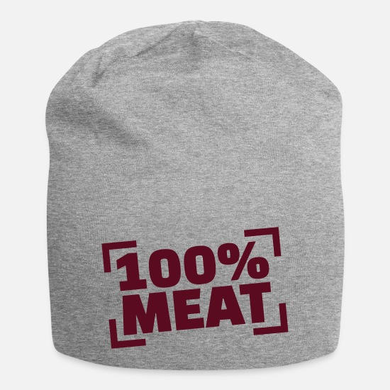 Bbq Caps & Hats - 100% Meat - Beanie heather grey