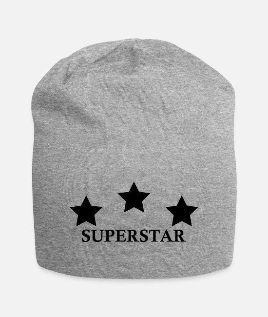 Pattern Caps & Hats - SUPERSTAR - Beanie heather grey