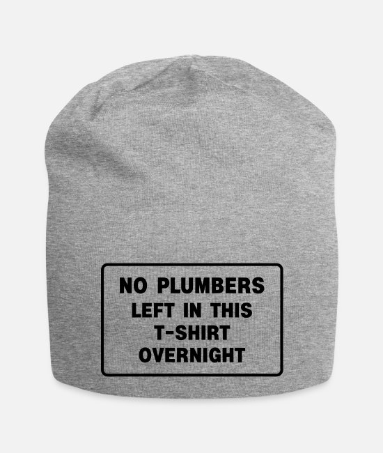 Van Caps & Hats - plumbers - Beanie heather grey