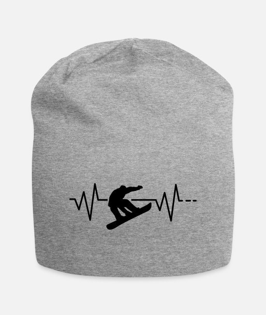 Heart Rate Caps & Hats - Heartbeat Snowboard Freestyle - Ski, Snow, Snow - Beanie heather grey