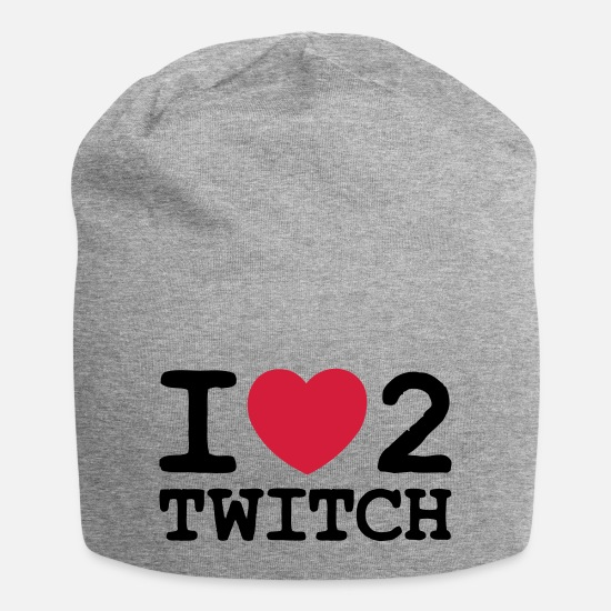 Love Caps & Hats - i love heart 2 twitch - Beanie heather grey