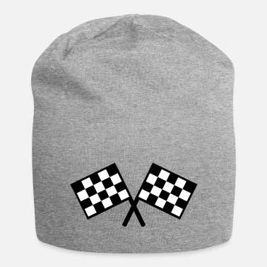 Checkered flags - car race - Beanie