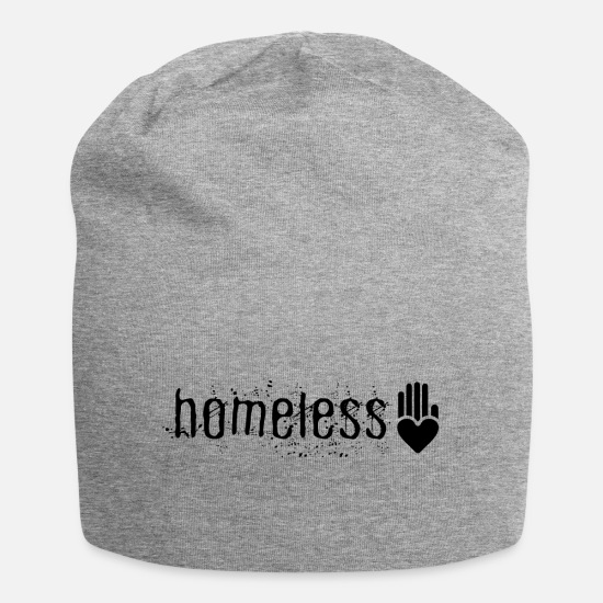 Homeless Caps & Hats - Homeless | T-shirt - Beanie heather grey
