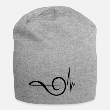 Treble Clef Clef frequency pulse heartbeat - Beanie
