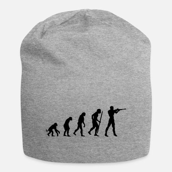 Gun Caps & Hats - evolution of shooting - Beanie heather grey