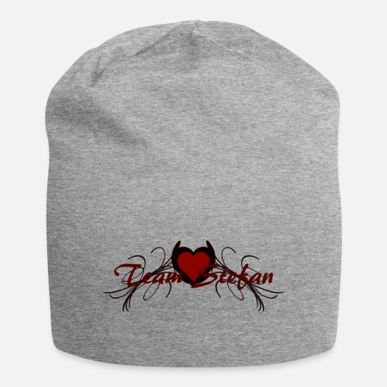 Vampire Caps & Hats - team stefan - Beanie heather grey