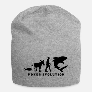 Evolution Fish Poker Evolution - Fish, Donkey, Man, Shark - Beanie