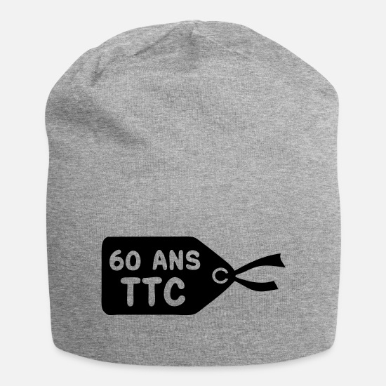 Birthday Caps & Hats - 60 price tag ttc - Beanie heather grey