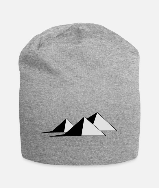 Nile Caps & Hats - The Pyramids - Beanie heather grey