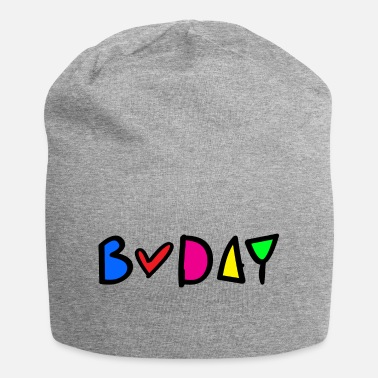 B Day b-day colorful typo - Beanie