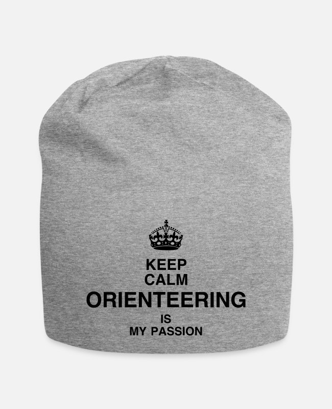 Nature Caps & Hats - Orienteering Orientierungslauf Orientation - Beanie heather grey
