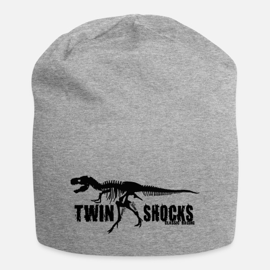 Dinosaurs Caps & Hats - Twin Shocks Dino - Beanie heather grey